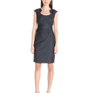 NWT Calvin Klein Denim look Ruched Sheath Dress